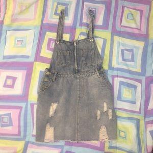 jean overall skirt